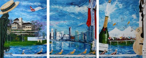Old School Ties - triptych by Banx MC6588
