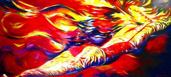 Red Swimmer Girl by Ronzo MC5706