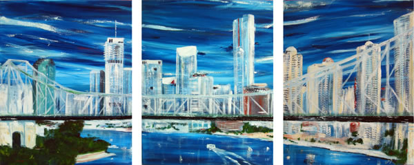 Skyline - triptych by Banx - 3 @ 600 x 750mm - MC5622
