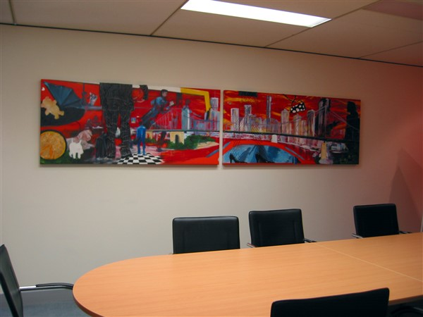 Live Work Play 1 and 2 (Live and Work) - triptych by Banx - 1750x750mm each - MC5612