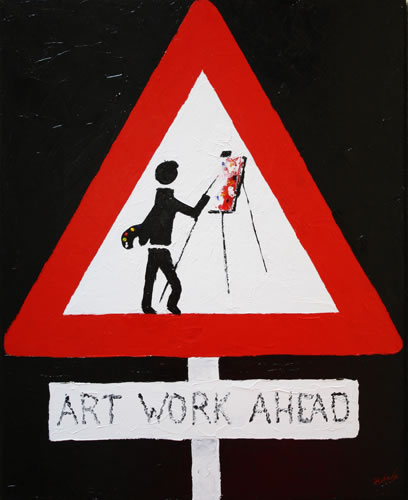 Art Work Ahead by Banx - 600 x 750mm - MC6071