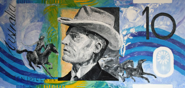 Banjo Paterson (Andrew Barton) by Banx - 1380 x 650mm - MC6083