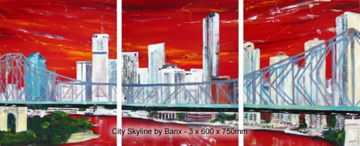 City Skyline - triptych By Banx MC5636