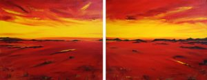 Distant Plains - diptych by Banx MC5613