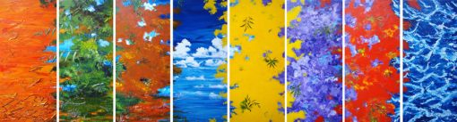 From Gold Plains to Ocean Blue - 8 x polyptych by Banx MC5854