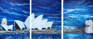 Harbour City - triptych by Banx 3@750x1000mm MC5853
