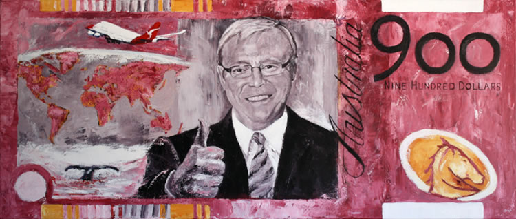 Nine Hundred Bux - Kevin Rudd Stimulating 900 by Banx - 1500 x 650mm - MC6254