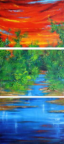 Port Douglas - triptych by Banx MC6045