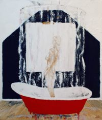 Red Bath Tub by Banx 850x1000mm -MC6069