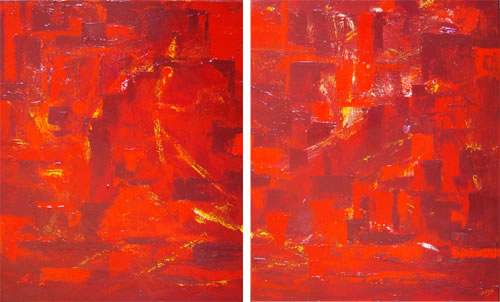 Red Harbour - diptych by Banx - 2 @ 600 x 750mm - MC5964