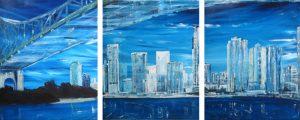 Riverbend - triptych by Banx MC5567