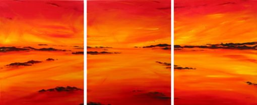 Sunburnt Country - triptych by Banx 3@600x750mm MC5563