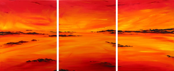 Sunburnt Country - triptych by Banx - 3 @ 600 x 750mm - MC5563