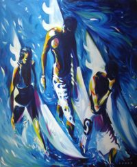 Three Surfers by Ronzo MC5891
