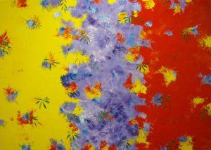 Wattle, Jacaranda, Poinsettia 5 by Banx 1400x1000mm MC5972