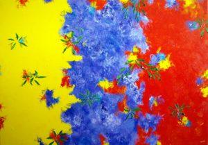 Wattle, Jacaranda, Poinsettia 3 by Banx 1300x900mm MC5935