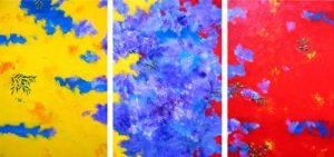 Wattle, Jacaranda, Poinsettia - triptych by Banx MC5557