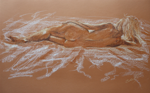 Nude back reclining by Banx MC6141