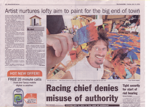 Courier Mail - My Shed - Brian Williams, 12.4.05
