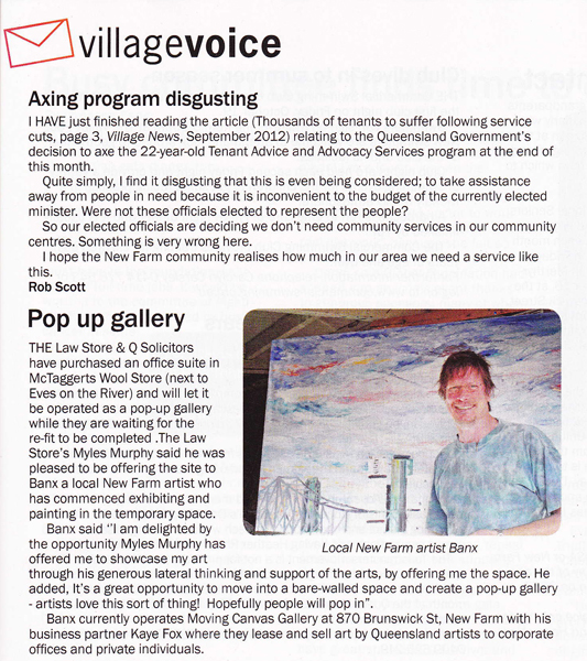 Village News article Oct 2012