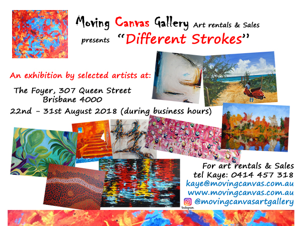 Different Strokes Exhibition Invite August 2018