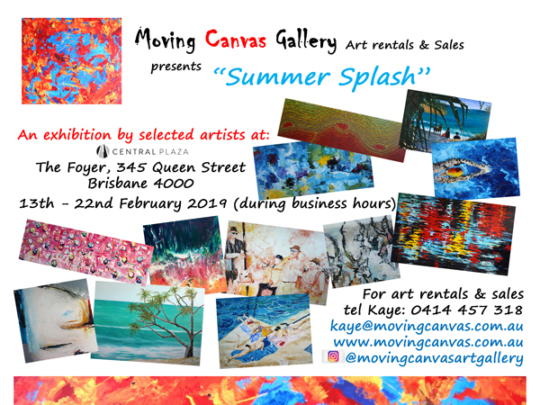 Invitation - Summer Splash Moving Canvas Art Showcase Feb 2019