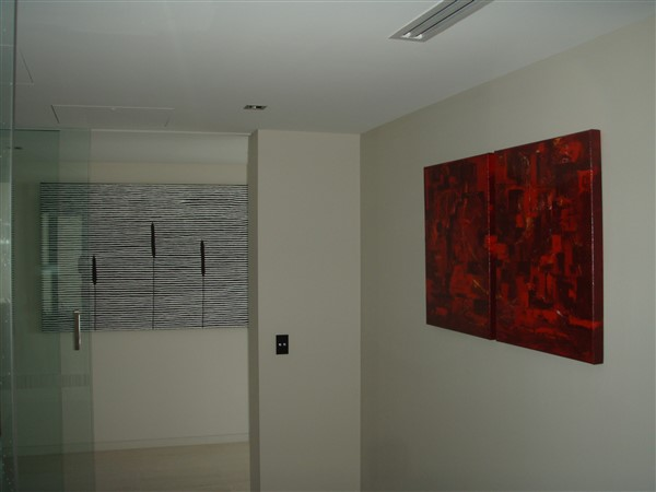 Pakap Yallander by Kuren Waren - 1800x1200mm & Red Harbour - diptych by Banx - 2@600x750mm - MC5587 and MC5964