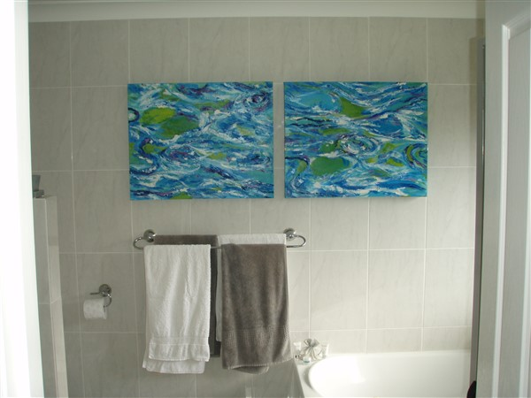 Ocean Blue - diptych by McLeay - 2@750x600mm - MC5910